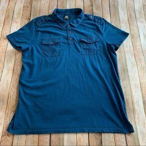 Rock & Republic men's short sleeve polo shirt
